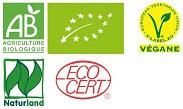 logo certification bio vegan naturland ecocert
