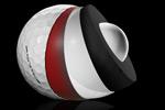 12 Balles de golf Hex Black Tour