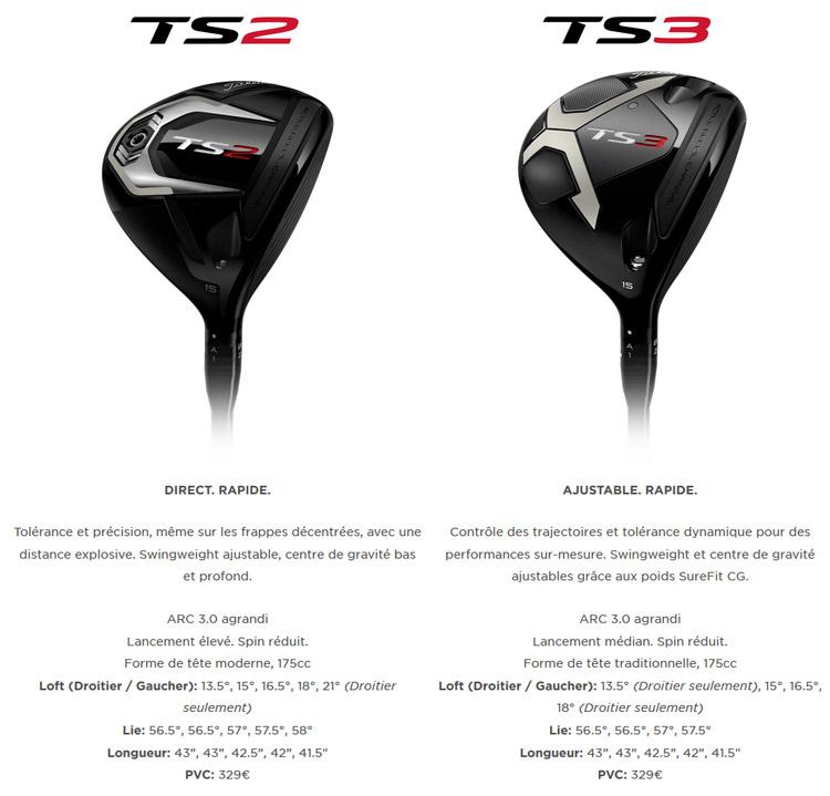 ts2 ts3 titleist bois golf