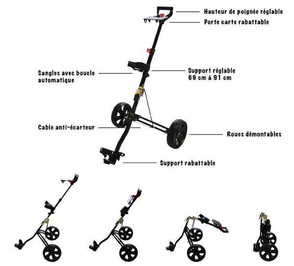 TROLEM - Chariot manuel Par 3