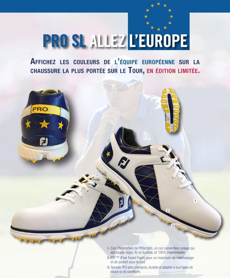 Chaussure homme Pro SL Europe Ryder Cup 2018 (53555) - Edition Limitée
