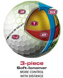 WILSON GOLF - Balles de golf DX3 Soft