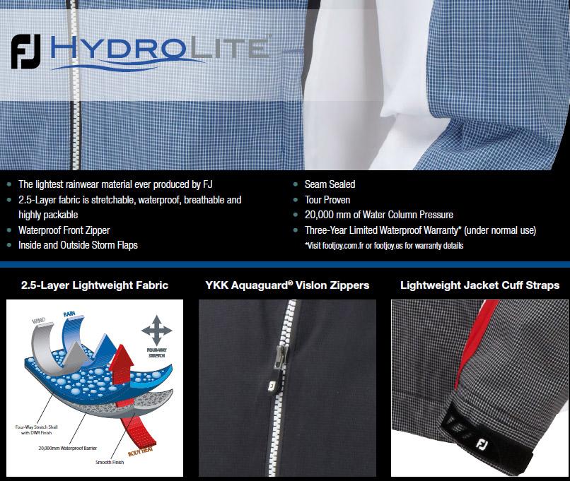 footjoy vetement de pluie hydrolite
