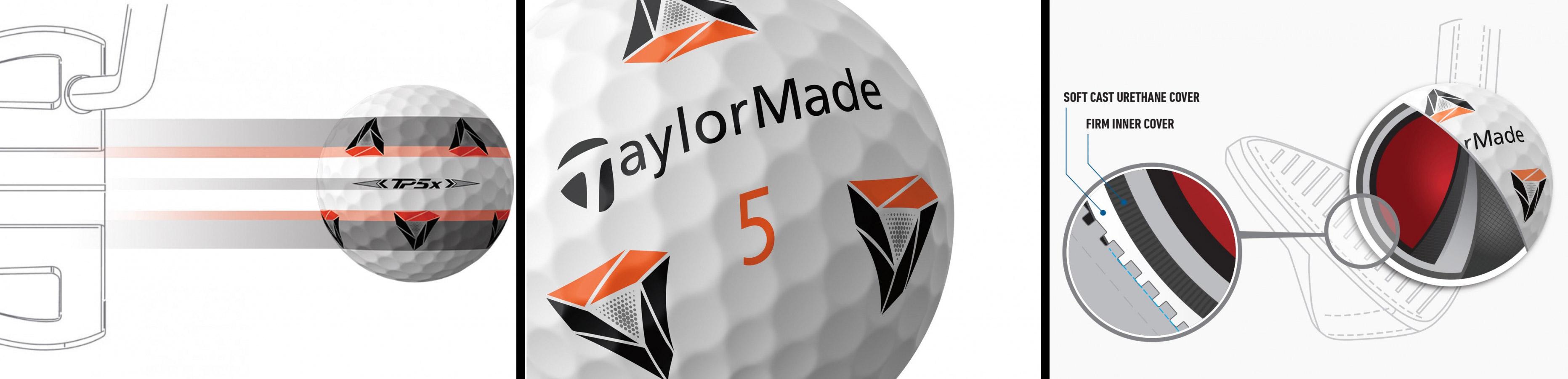 Balles de golf TP5X PIX Taylormade 2021