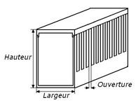 schema goulottes électriques 25x25