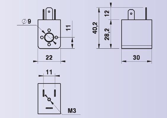 dimensions bobine 22mm