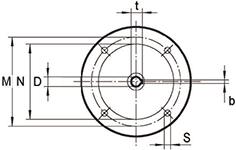 accessoires d'entrée pour réducteur TKM28