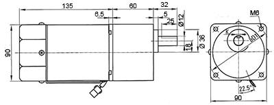 moto-reducteur 60W type5 | technic-achat