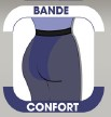 bande de confort collant opaque grande taille