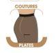 COLLANT COUTURES PLATES LAUVE PLUMETIS