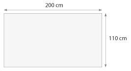cheche dimension 110 x 200